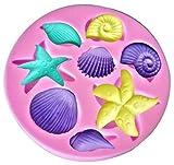 Bath Bomb Hobby Lobby Seashells Assorted 8 Cavity Silicone Mold for Fondant Cake Decorating