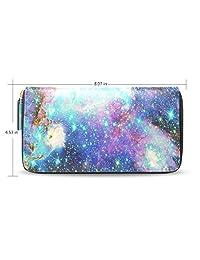 Yochoice Women Wallet,Universe Space Nebula Star,Purse Credit Card Holder Case