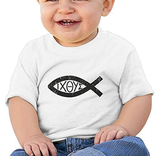 Organic Fish Tee Cotton - Quxueyuannan Jesus Christian Fish Washed Cotton Baby Boy Shirt Cute Summer T Shirt Funny