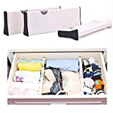 Adjustable Expandable Drawer Dividers-3 Pack ABS Dream Drawer Organizer for Kitchen,Bathroom, Office Desks and Bedroom (Adjust from 37.5cm to 53.5cm)