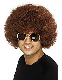 Smiffy's Men's 70's Funky Afro Wig, Brown, One Size