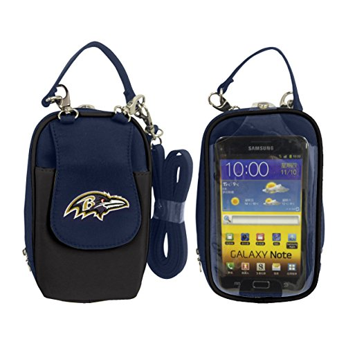 (Charm14 NFL Baltimore Ravens Women's Crossbody Cell Phone Purse XL -Fits All Phones by Little Earth)