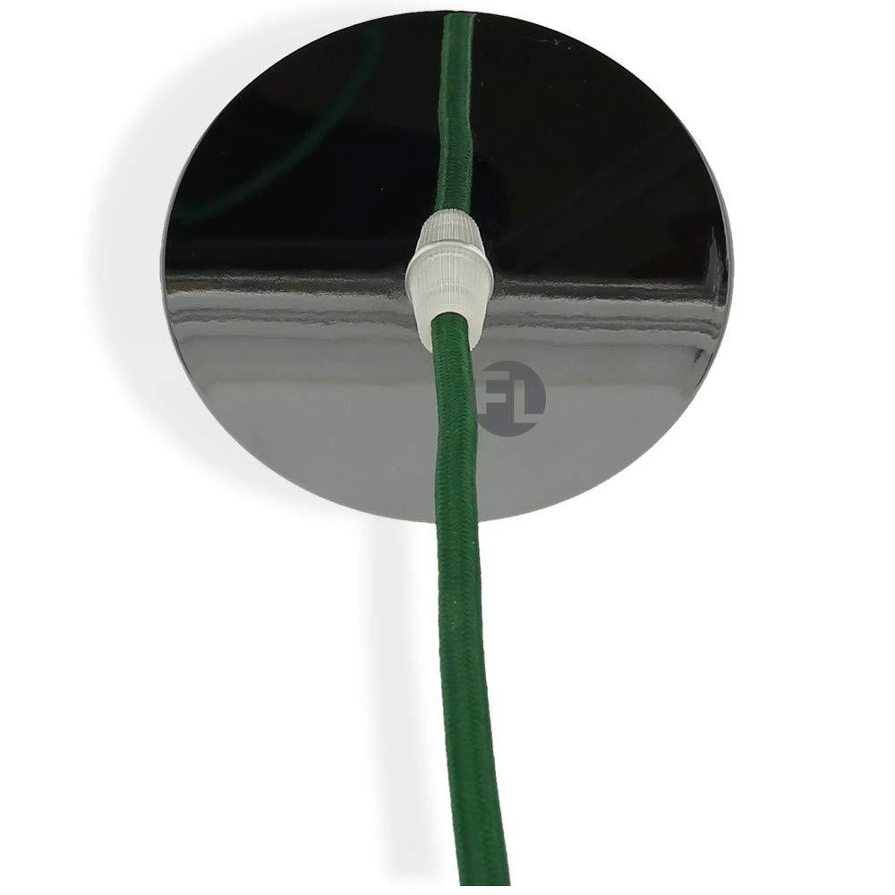 Suspension de lampe Flairlux Baldaquin m/étal 1 trou Mod/èle massif avec c/âble de terre Accessoires de lampe DIY pour /éclairage cr/éatif Rosace de plafond pour fixation de suspensions