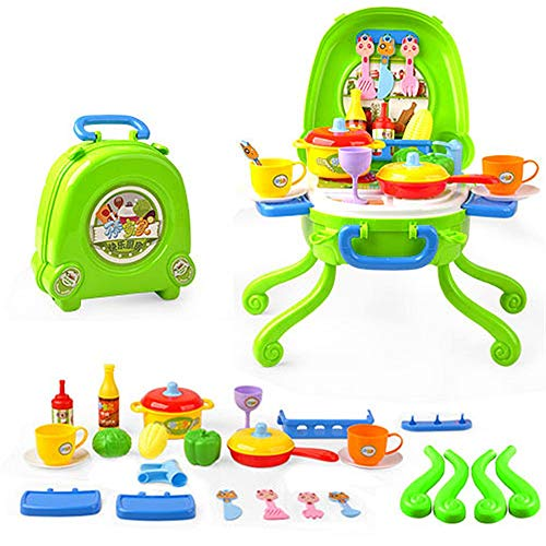 DIY Dollhouse Kit Pretend Play Ice Cream Pizza BBQ Hamburger Food BBQ Hot Dog Fish Meat Cart Trolley Kitchen Cooking Set Toy With Music And Lighting For Kids And Girls Pretend Play Toys House Craft Ki -