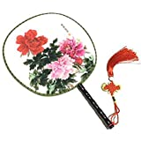 Attractive Chinese Round Fan Classical Dancing Dan With Beautiful Pattern, #15