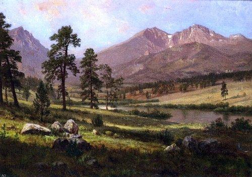 Albert Bierstadt Long\'s Peak Estes Park Colorado - 18.1