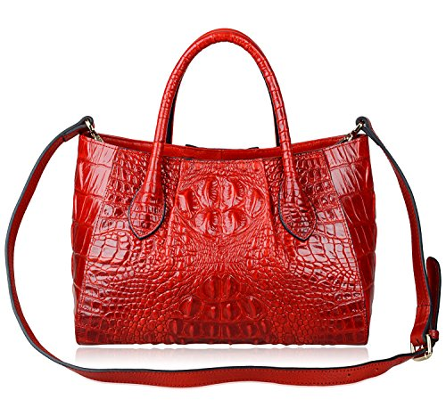 Women PIJUSHI Handle 5002a Women Satchel Crocodile Bag Handbags Red for Top Bags zr6Iw4zq