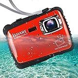 Waterproof Digital Camera for Kids, ishare Update Underwater Camera with 2.0' LCD, 8 X Digital Zoom,...