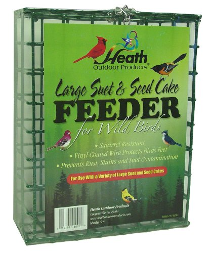 Heath Outdoor Products S-4 Large Suet & Seed Cake Feeder