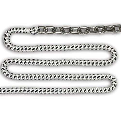 ANAMR-SSDB3/8-200 * Rode Kit, 15ft 3/8'' Stainless Steel Chain 200ft 5/8'' Double Braided Rope by Anchorlift