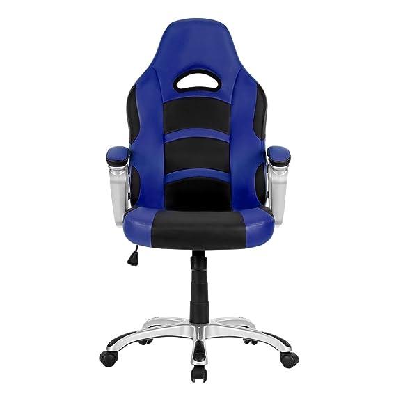 Langria Gaming Stuhl Schreibtischstul Kunstleder Chefsessel