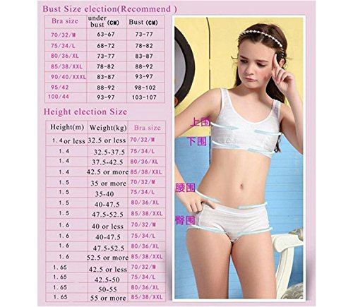 f5f6b63936336 Young Girls  Cotton Full Cup Training Bra by MANJIAMEI  Amazon.co.uk   Clothing