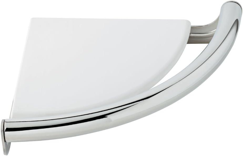 Delta Faucet DF702PC Corner Shelf with Assist Bar, Polished Chrome