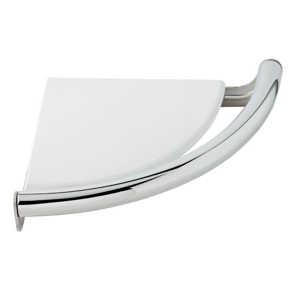 Delta DF702PC Corner Shelf with Assist Bar, Polished Chrome