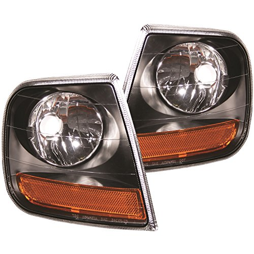 AnzoUSA 521040 Black/Amber Corner Light for Ford