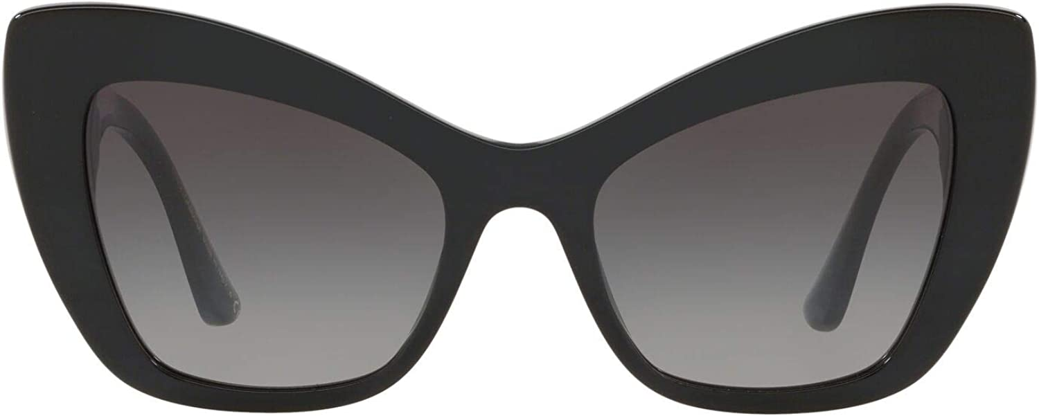 Dolce /& Gabbana DG 4349 501//8G Sunglasses Black Frame Grey Gradient 54mm