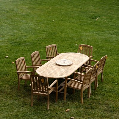 New 9Pc Grade-A Teak Outdoor Dining Set-95