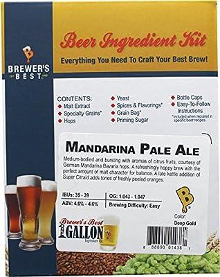 Brewer's Best One Gallon Home Brew Beer Ingredient Kit (Mandarina Pale Ale)