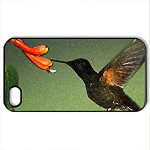 BEIJA - FLOR - Case Cover for iPhone 4 and 4s (Birds Series, Watercolor style, Black)
