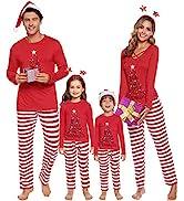 iClosam Pigiama Famiglia Natale Set Mamma papà Bambino Tops Pantaloni Manica Lunga Pigiami Pjs Ma...