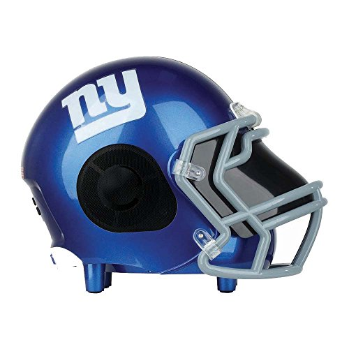 New York Bass - NIMA Portable Bluetooth Speaker, [Officially Licensed by NFL] NFL Football Helmet Super Mini Stereo Speaker with Built-in-Mic, Hands-free Call, AUX HD Sound and Bass-New York Giants