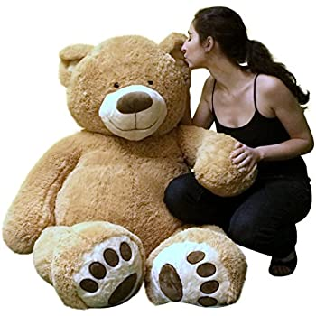 big plush personalized giant 5 foot teddy bear premium soft customized with your message