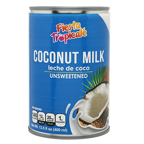 Coconut Milk Unsweetened Full-Fat BPA-Free Canned Dairy Free Without Preservatives, Great for Vegan Paleo or Keto Recipes Latte or for Yogurt - 13.5 oz. Cans (Count of 6) by Fiesta Tropicalé (Best Full Fat Milk)
