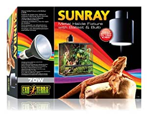 Amazon Com Exo Terra Sunray Light Fixture 70 Watt Pet