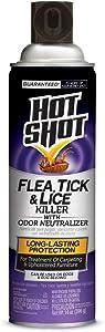 Hot Shot Flea, Tick & Lice Killer With Odor Neutralizer, Aerosol, 14-Ounce, 6-Pack