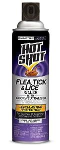Hot Shot Flea, Tick & Lice Killer With Odor Neutralizer, Aerosol, 14-Ounce