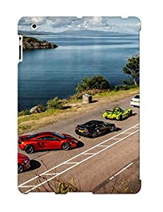 Freshmilk Durable Defender Case For Ipad 2/3/4 Tpu Cover(super Car Lineup) Best Gift Choice