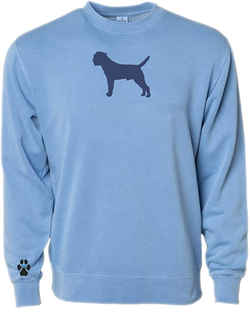 Heavyweight Pigment-Dyed Sweatshirt with Border Terrier Silhouette