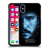 Official HBO Game of Thrones Jon Snow Winter is Here Black Soft Gel Case for iPhone X/iPhone Xs