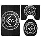 HOMESTORES Perfect Gifts - Masonic Faith Hope And Charity Freemason Logo Thicken Skidproof Toilet Seat U Shaped Cover Bath Mat Lid Cover