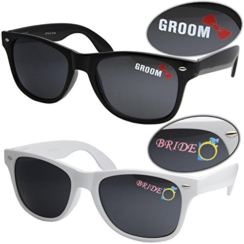 Bride and Groom Wedding Sunglasses 2 Pairs Bride and - Gift Sunglasses