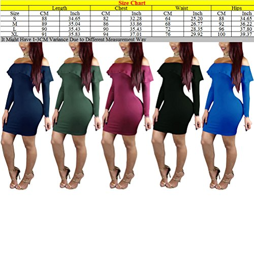 Zhhlaixing Fashion ropa de calidad Pure Color Lotus Leaf Collar Nightclub Vest Skirt Off Shoulder Slim Dress for Womens Army Green