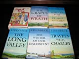 John Steinbeck 7 Novel Set~East of Eden / The Long Valley/The Grapes of Wrath/Of Mice and Men/Travels with Charley/Tortilla Flat/The Winter of our Discontent (Hardcover 6 Vol. Collection)
