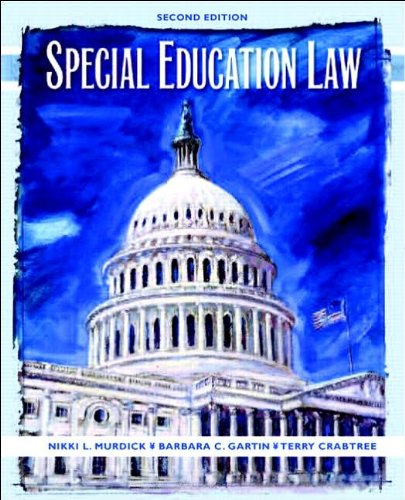 Special Education Law (text only) 2nd(Second) edition by N. L. Murdick,B. Gartin,T. L. Crabtree