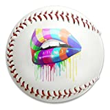 Nvthenpiaoliang Colorful Lip Shinning And Drooling Soft Standard Practice Ball Baseball Game Ball