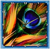 3dRose dpp_25833_1 Feather of a Peacock Wall Clock, 10 by 10-Inch Review