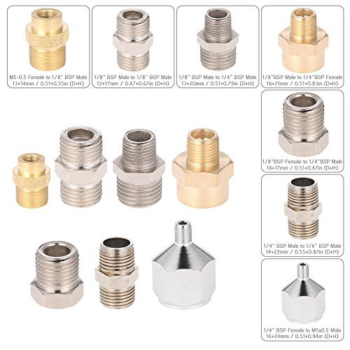 Generic Professional 7pcs Airbrush Adaptor Kit Fitting Connector Set For Compressor & Airbrush Hose