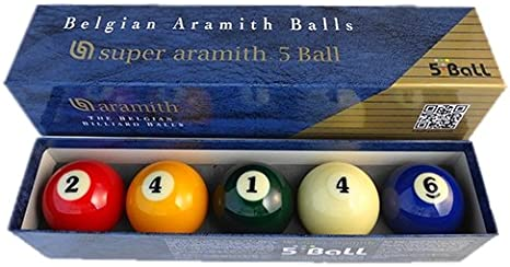Billar Carambola Carom Super Aramith Carambole 3-balls/4-balls/5-balls Set en diámetro de 61,5 mm profesional bola de billar suministros para todo el mundo torneo nacional caso rendimiento, Super 5-Ball - 61.5mm: Amazon.es: Deportes