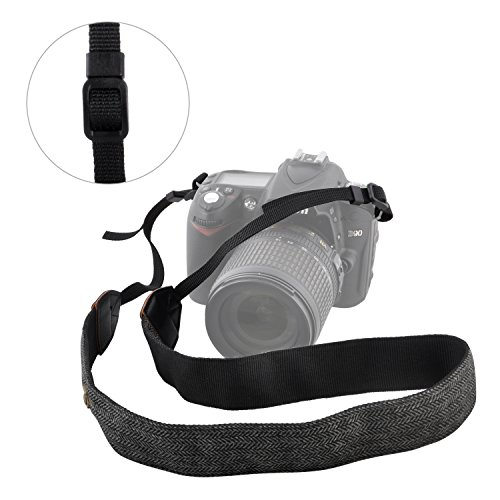 pangshi Camera Shoulder Neck Strap, JD-HS Universal Adjustable Soft Neck Belt Band for Women Men DSLR Camcorder Camera Nikon Canon Sony Olympus Samsung Pentax Fujifilm Panasonic Ricoh Leica(Grey)