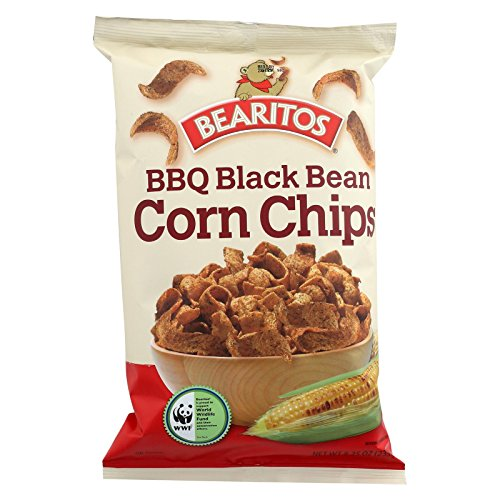 Bearitos BBQ Black Bean Corn Chips, 8.25 oz by Bearitos