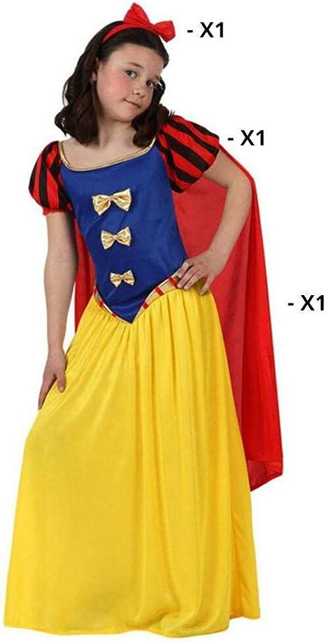 Atosa-10755 Disfraz Princesa de Cuento, color amarillo, 10 a 12 ...