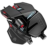 Mad Catz RAT8 Wired Optical USB LED RGB Mouse with 11 Programmable Buttons, Fully Customizable - Black