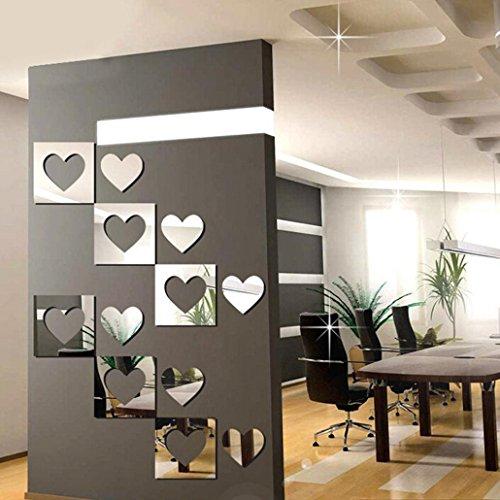 6PC 3D Mirror Wall Sticker Hexagon Vinyl Removable Wall Sticker Decal Home Decor Art DIY for TV setting wall, Sofa setting wall, dining room, bedroom, door, freezer, wardrobe - Top July Of Diy Tank 4th