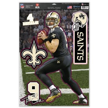 New Orleans Saints Drew Brees 11''x17'' Multi-Use Decal - In Outlet Orleans New