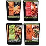 Miracle Noodle Gluten Free Ready to Eat Meals, Variety Pack, 4 Count