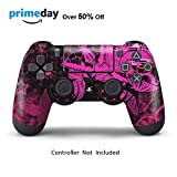 Skins for PS4 Controller - Decals for Playstation 4 Games - Stickers Cover for PS4 Slim Sony Play Station Four Controllers PS4 Pro Accessories PS4 Remote Wireless Dualshock 4 Skin - Pink Butterfly